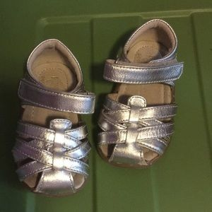 Baby girl silver sandals size 4